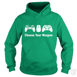SunFrog-Busted Funky Hippo Hoodie / Irish Green / S Choose Your Weapon