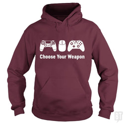 SunFrog-Busted Funky Hippo Hoodie / Maroon / S Choose Your Weapon