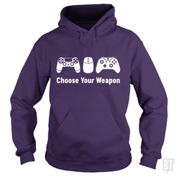 SunFrog-Busted Funky Hippo Hoodie / Purple / S Choose Your Weapon