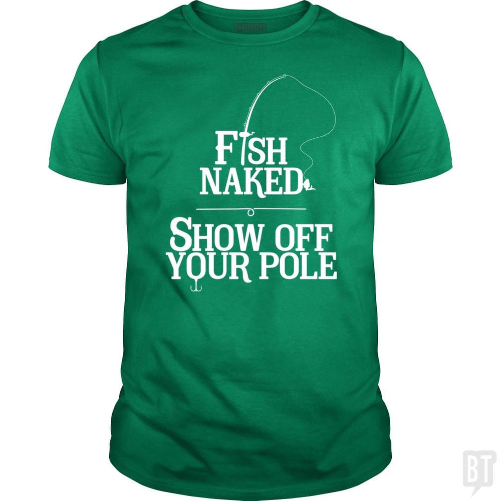 SunFrog-Busted Funky Hippo Classic Guys / Unisex Tee / Irish Green / S Fish Naked Show Of Your Pole