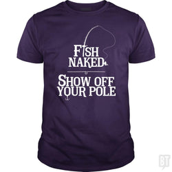 SunFrog-Busted Funky Hippo Classic Guys / Unisex Tee / Purple / S Fish Naked Show Of Your Pole