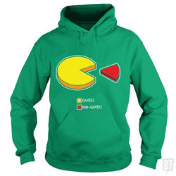 SunFrog-Busted Funky Hippo Hoodie / Irish Green / S Gamers