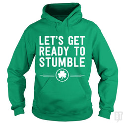SunFrog-Busted Funky Hippo Hoodie / Irish Green / S Get Ready To Stumble