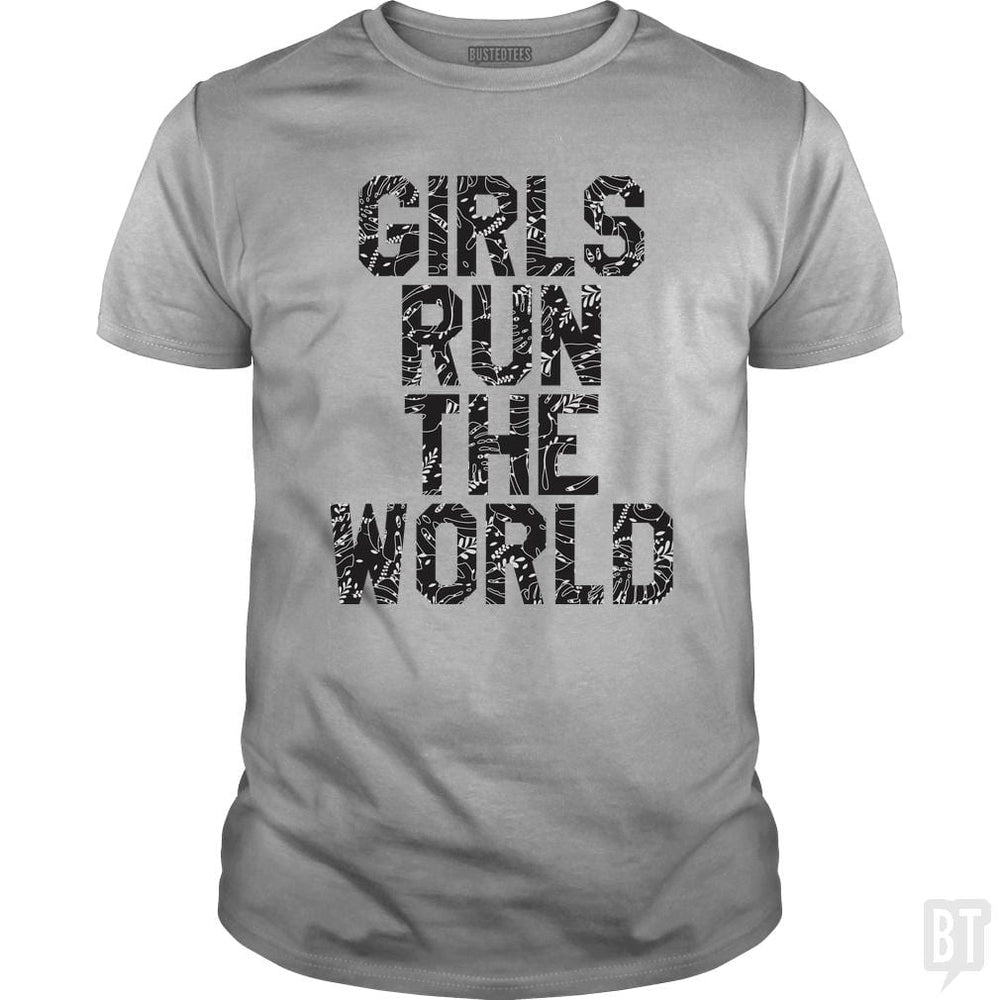 SunFrog-Busted Funky Hippo Classic Guys / Unisex Tee / Sport Grey / S Girls Run The World