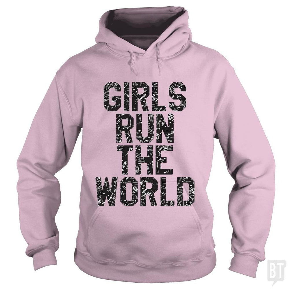SunFrog-Busted Funky Hippo Hoodie / Light Pink / S Girls Run The World