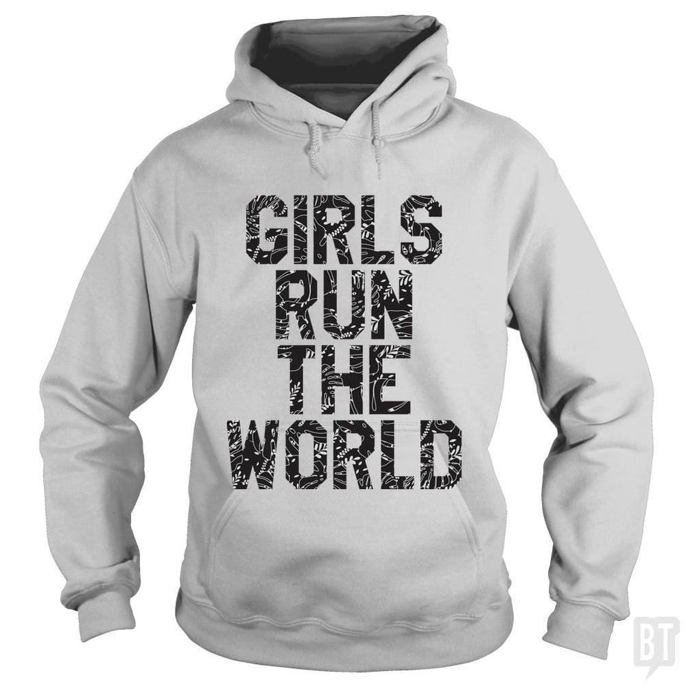 SunFrog-Busted Funky Hippo Hoodie / Sport Grey / S Girls Run The World