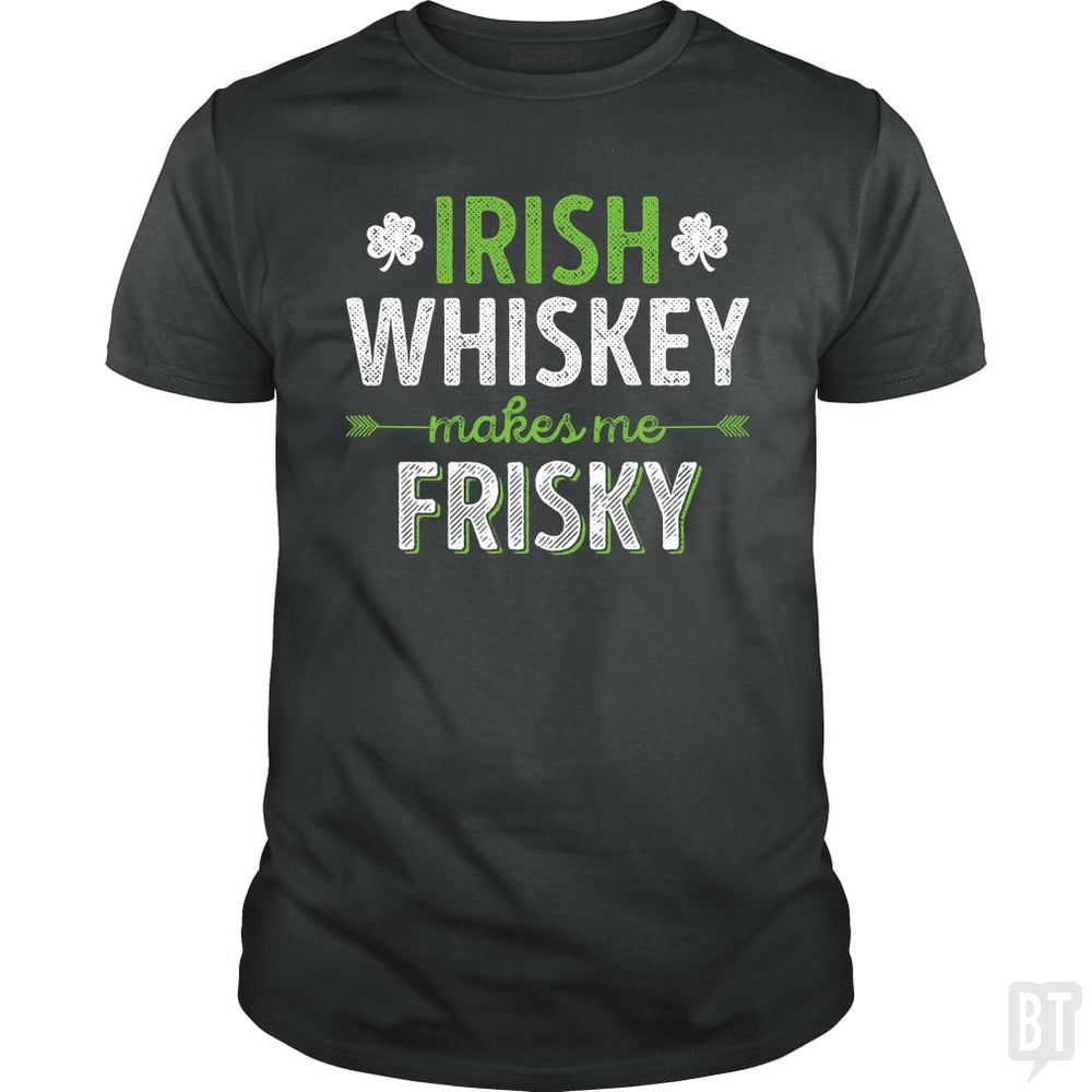 SunFrog-Busted Funky Hippo Classic Guys / Unisex Tee / Dark Heather / S Irish Whiskey Makes Me Frisky