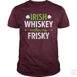 SunFrog-Busted Funky Hippo Classic Guys / Unisex Tee / Maroon / S Irish Whiskey Makes Me Frisky