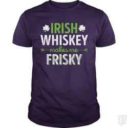 SunFrog-Busted Funky Hippo Classic Guys / Unisex Tee / Purple / S Irish Whiskey Makes Me Frisky