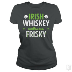 SunFrog-Busted Funky Hippo Classic Ladies Tee / Dark Heather / S Irish Whiskey Makes Me Frisky