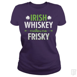 SunFrog-Busted Funky Hippo Classic Ladies Tee / Purple / S Irish Whiskey Makes Me Frisky