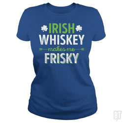 SunFrog-Busted Funky Hippo Classic Ladies Tee / Royal Blue / S Irish Whiskey Makes Me Frisky