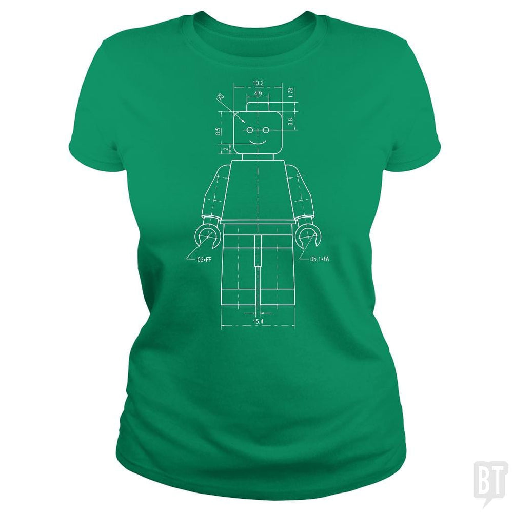 SunFrog-Busted Funky Hippo Classic Ladies Tee / Irish Green / S Lego