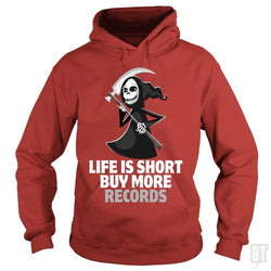 SunFrog-Busted Funky Hippo Hoodie / Red / S Life Is Short Buy More Records