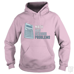 SunFrog-Busted Funky Hippo Hoodie / Light Pink / S Math Has Serious Problems