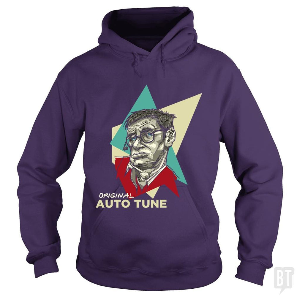 SunFrog-Busted Funky Hippo Hoodie / Purple / S Original Auto Tune