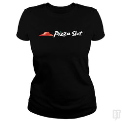 SunFrog-Busted Funky Hippo Classic Ladies Tee / Black / S Pizza Slut