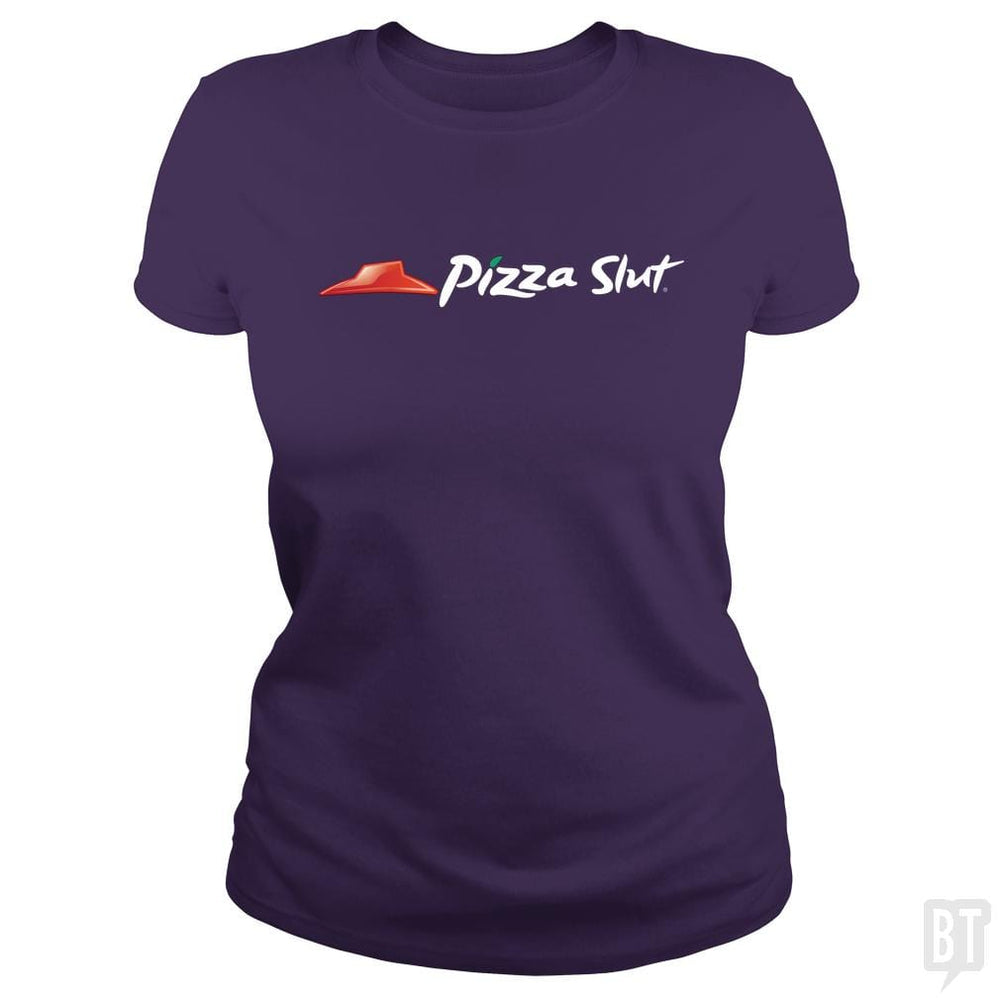 SunFrog-Busted Funky Hippo Classic Ladies Tee / Purple / S Pizza Slut