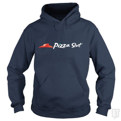 SunFrog-Busted Funky Hippo Hoodie / Navy Blue / S Pizza Slut