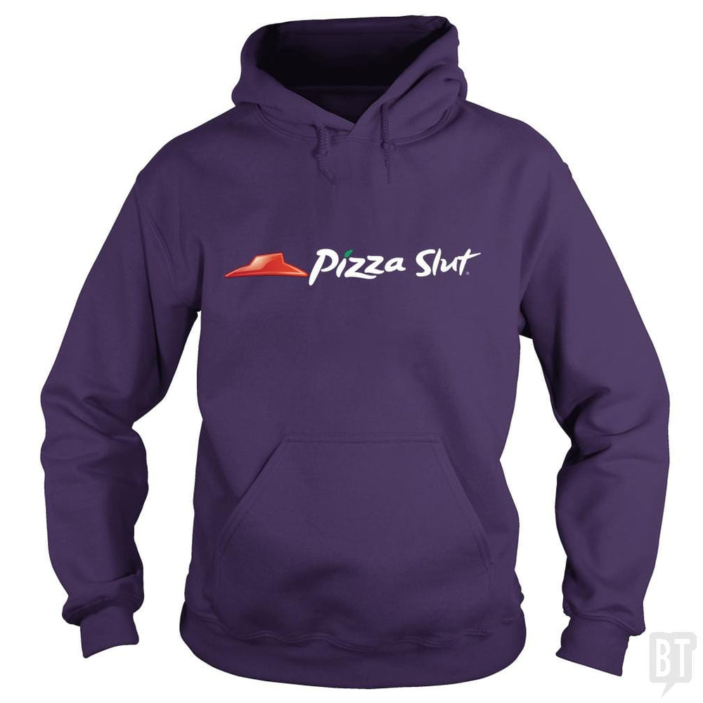 SunFrog-Busted Funky Hippo Hoodie / Purple / S Pizza Slut