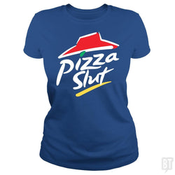 SunFrog-Busted Funky Hippo Classic Ladies Tee / Royal Blue / S Pizza Slut