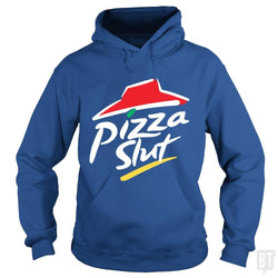 SunFrog-Busted Funky Hippo Hoodie / Royal Blue / S Pizza Slut