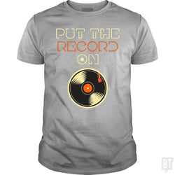 SunFrog-Busted Funky Hippo Classic Guys / Unisex Tee / Sport Grey / S Put The Record On