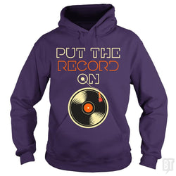 SunFrog-Busted Funky Hippo Hoodie / Purple / S Put The Record On