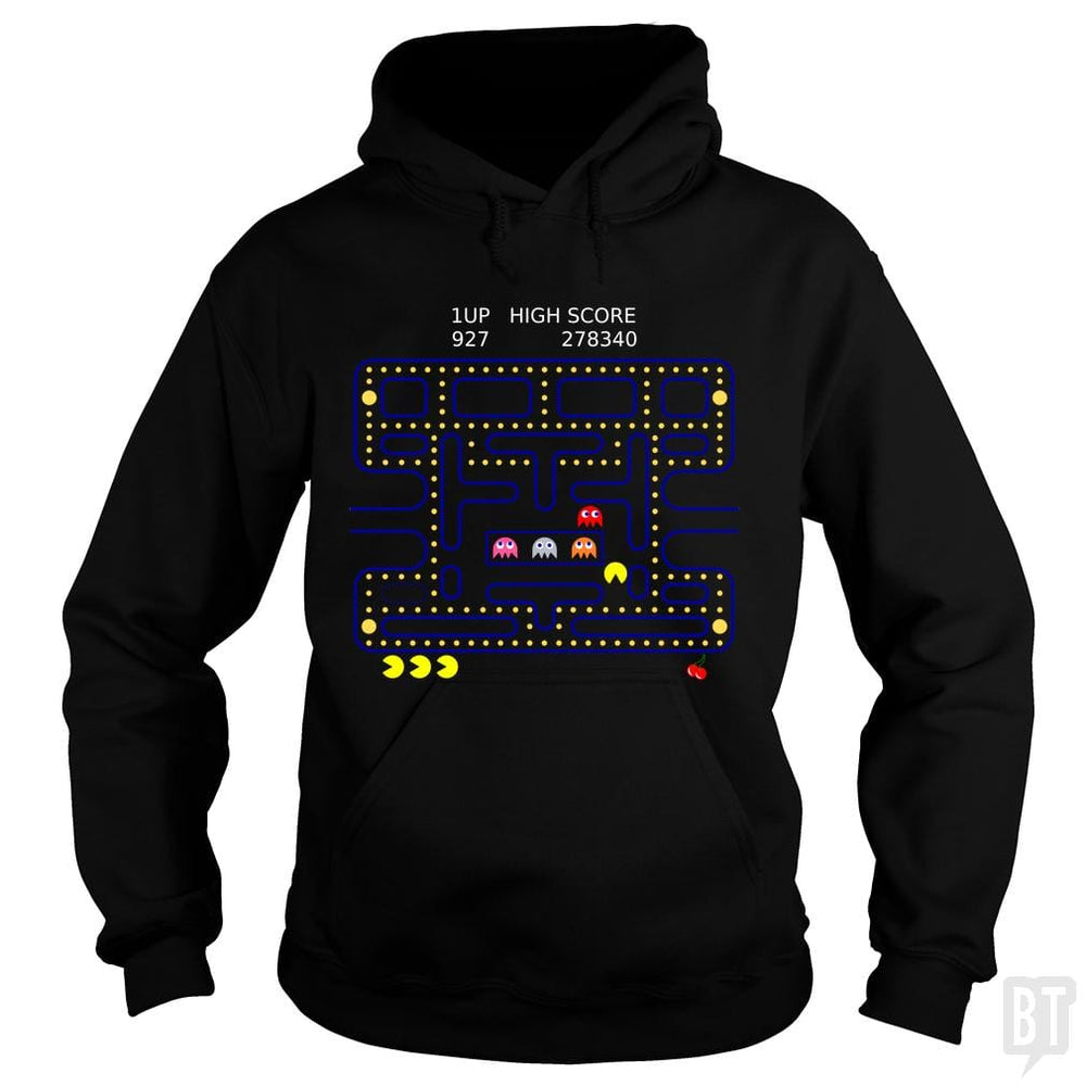 SunFrog-Busted Funky Hippo Hoodie / Black / S Retro Gamer