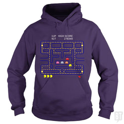 SunFrog-Busted Funky Hippo Hoodie / Purple / S Retro Gamer