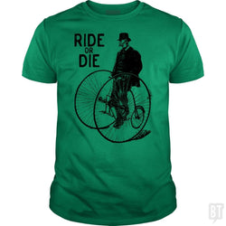 SunFrog-Busted Funky Hippo Classic Guys / Unisex Tee / Irish Green / S Ride Or Die