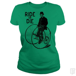 SunFrog-Busted Funky Hippo Classic Ladies Tee / Irish Green / S Ride Or Die
