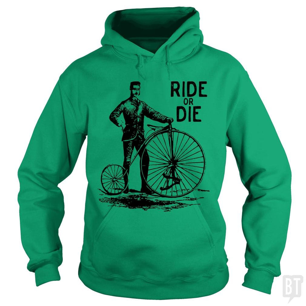 SunFrog-Busted Funky Hippo Hoodie / Irish Green / S Ride Or Die