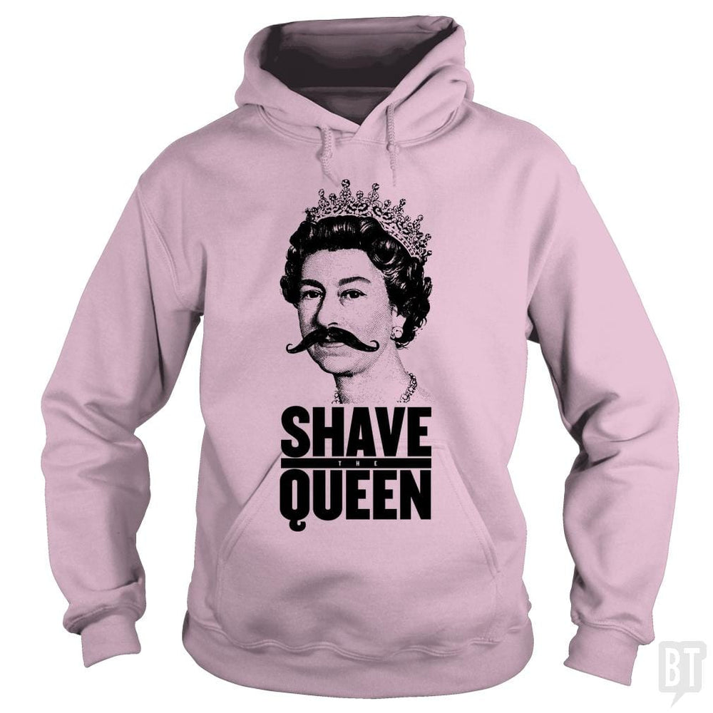 SunFrog-Busted Funky Hippo Hoodie / Light Pink / S Shave The Queen