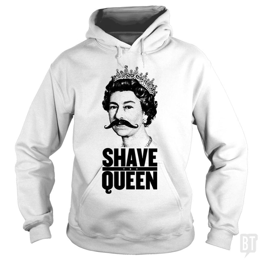 SunFrog-Busted Funky Hippo Hoodie / White / S Shave The Queen