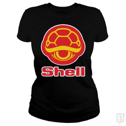 SunFrog-Busted Funky Hippo Classic Ladies Tee / Black / S Shell