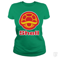 SunFrog-Busted Funky Hippo Classic Ladies Tee / Irish Green / S Shell