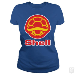 SunFrog-Busted Funky Hippo Classic Ladies Tee / Royal Blue / S Shell
