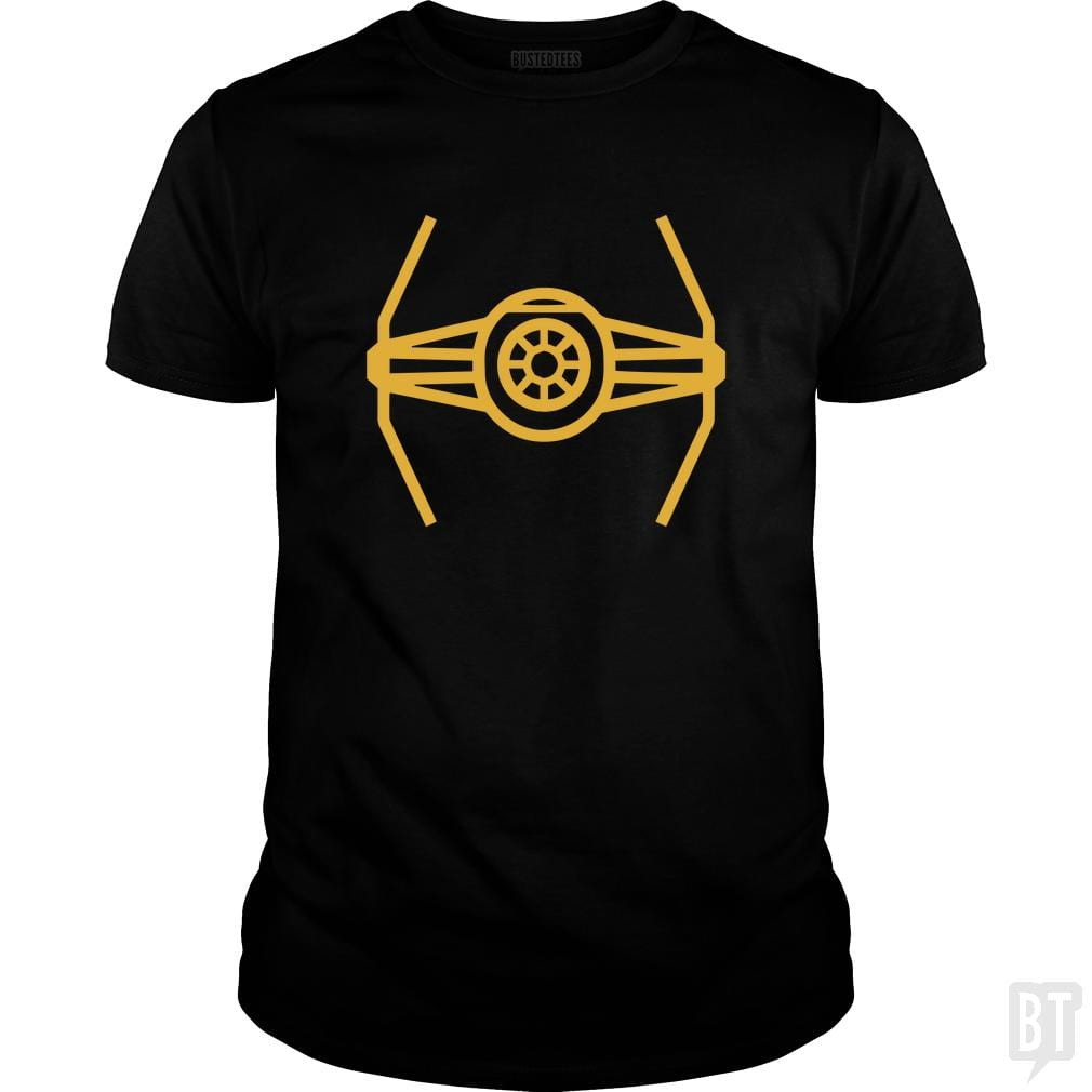 SunFrog-Busted Funky Hippo Classic Guys / Unisex Tee / Black / S TIE Fighter
