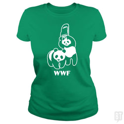 SunFrog-Busted Funky Hippo Classic Ladies Tee / Irish Green / S WWF