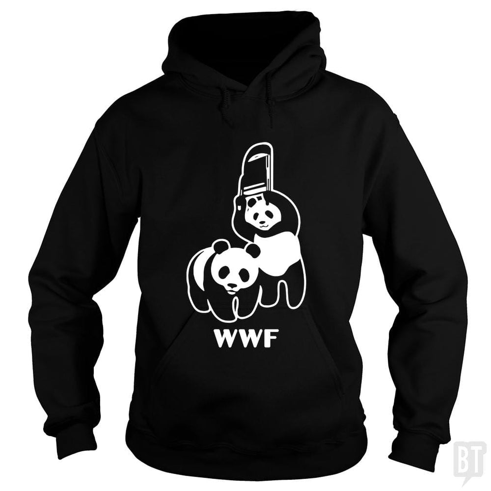 SunFrog-Busted Funky Hippo Hoodie / Black / S WWF
