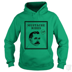 SunFrog-Busted GRIFFfam621 Hoodie / Irish Green / S Mustache Rides