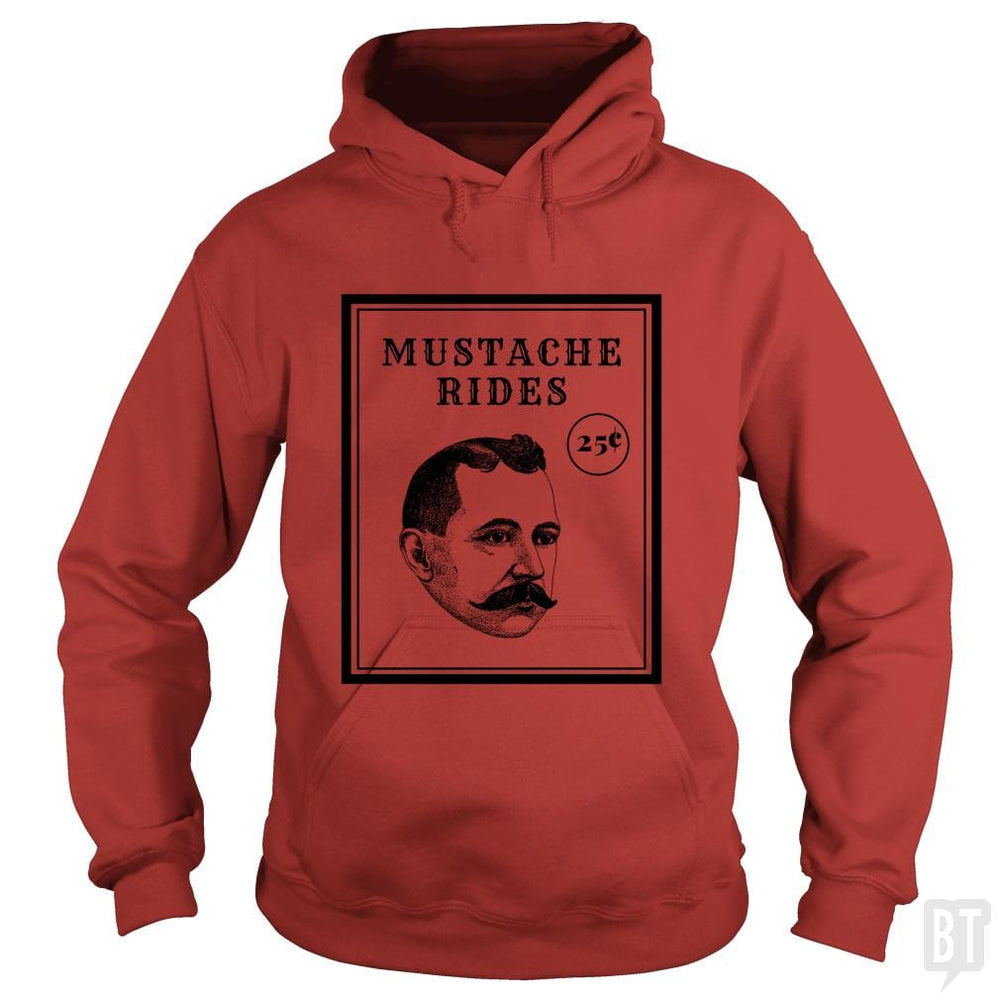 SunFrog-Busted GRIFFfam621 Hoodie / Red / S Mustache Rides