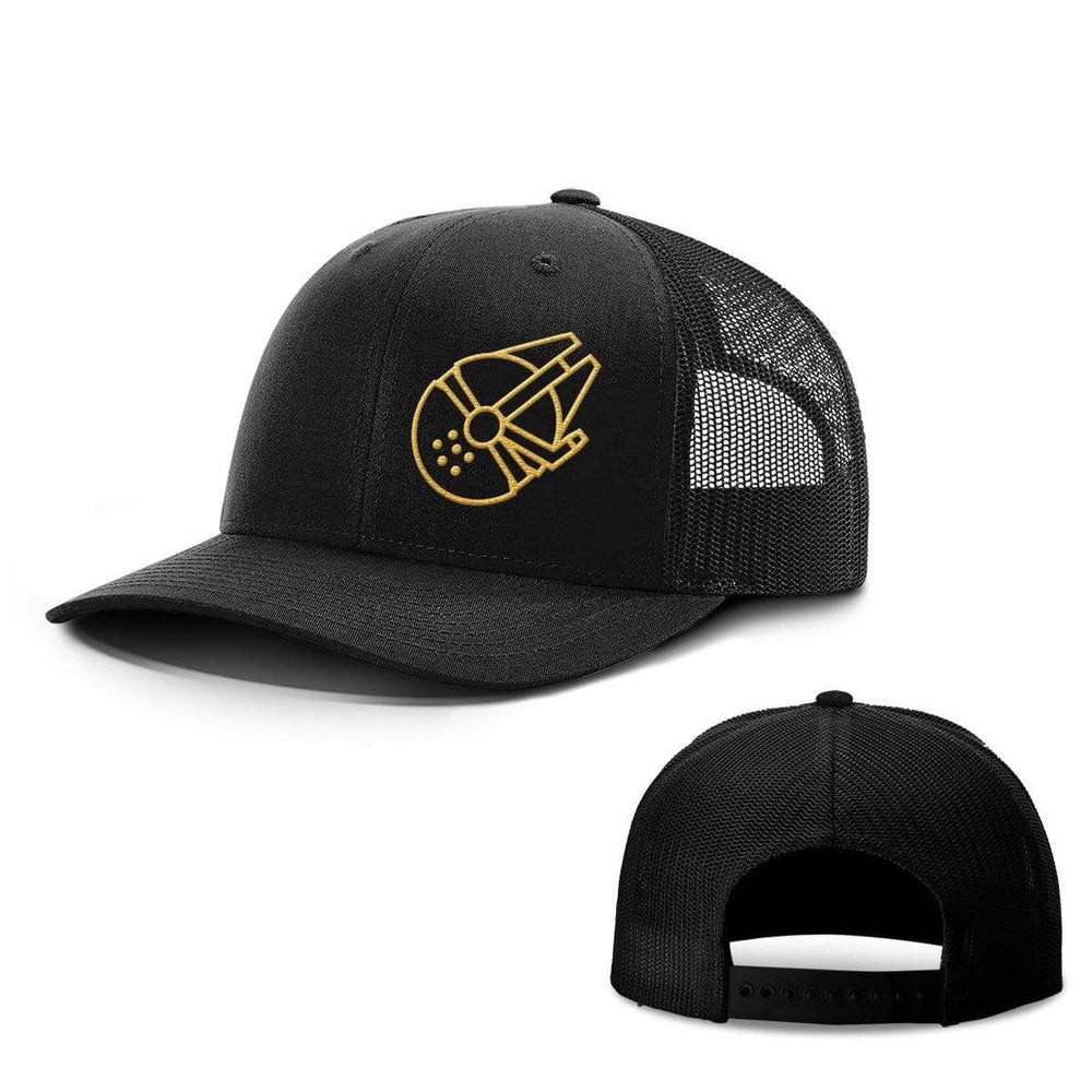 SunFrog-Busted Hats Snapback / Full Black / One Size Millenium Falcon Hats