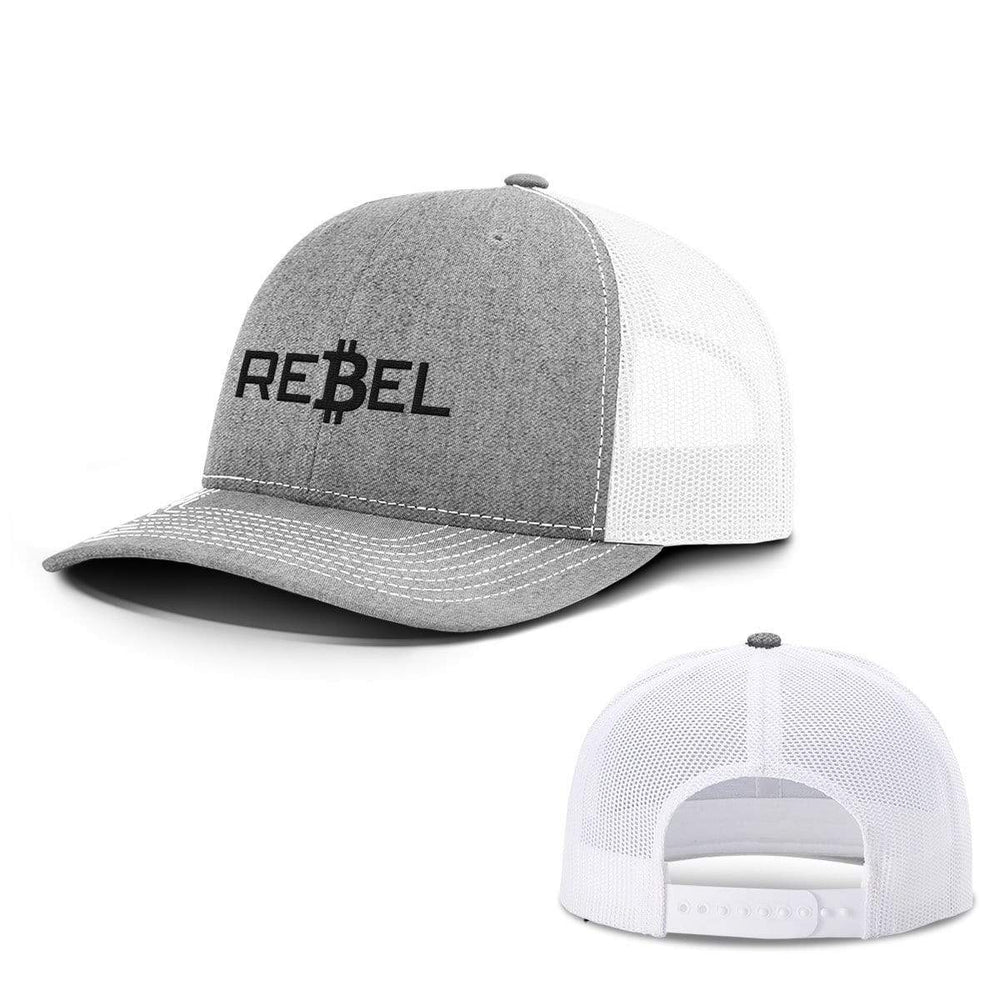 SunFrog-Busted Hats Snapback / Heather and White / One Size Rebel Bitcoin Hats