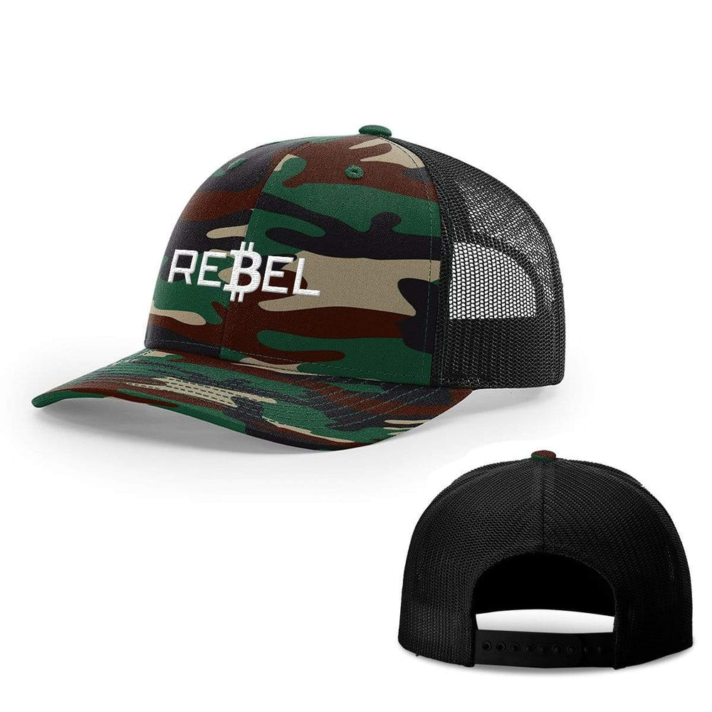 SunFrog-Busted Hats Snapback / Green Camo and Black / One Size Rebel Bitcoin Hats
