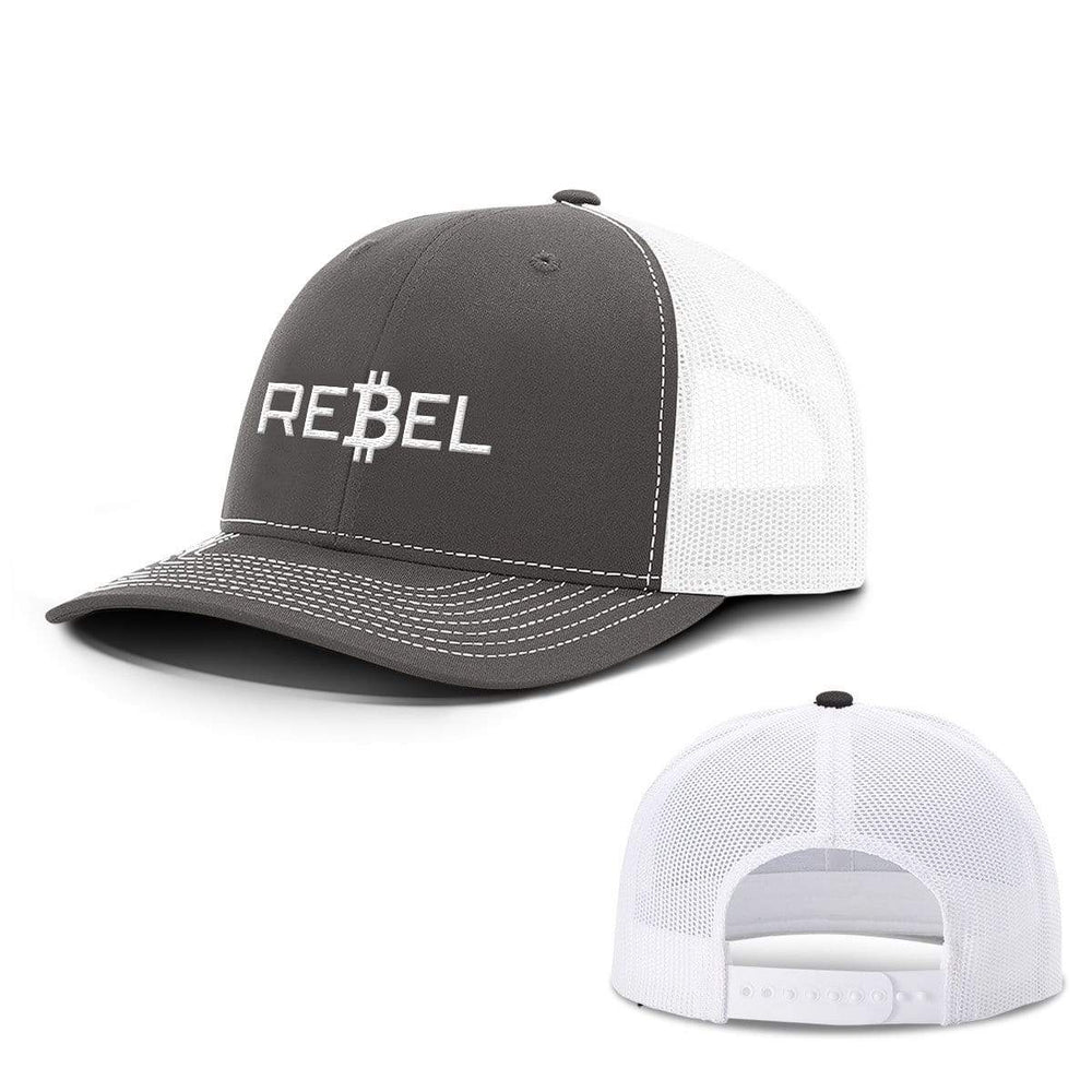 SunFrog-Busted Hats Snapback / Charcoal and White / One Size Rebel Bitcoin Hats