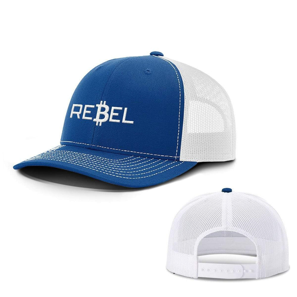SunFrog-Busted Hats Snapback / Royal Blue and White / One Size Rebel Bitcoin Hats