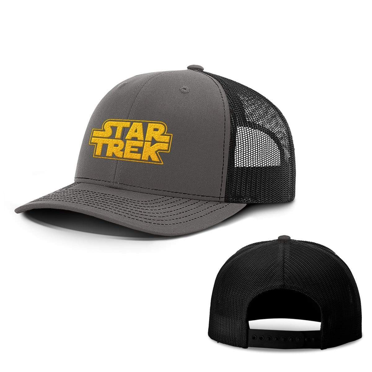 SunFrog-Busted Hats Snapback / Charcoal and Black / One Size Trek Wars Hats