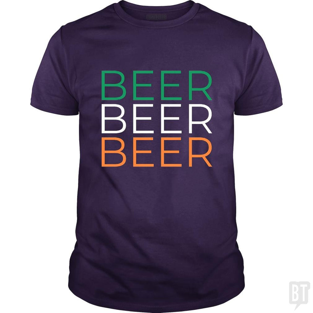 SunFrog-Busted Heflin Design Classic Guys / Unisex Tee / Purple / S Beer!